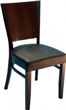 Burbank Wooden Side Chair with Wedge Shaped Back